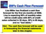 bw s cash flow forecast