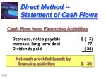 direct method statement of cash flows2