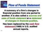flow of funds statement