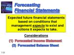 forecasting financial statements