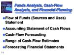 funds analysis cash flow analysis and financial planning