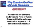 why examine the flow of funds statement