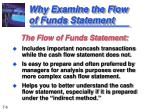 why examine the flow of funds statement1