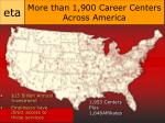 more than 1 900 career centers across america