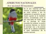 atributos nacionales ave nacional el tocororo