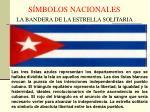 s mbolos nacionales la bandera de la estrella solitaria