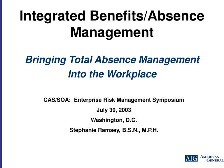 integrated benefits absence management n.