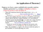 an application of theorem 2