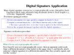 digital signature application