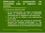 edificaci n y enajenaci n de inmuebles bajo el r gimen ley 13 5121
