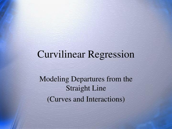 curvilinear regression n.