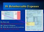18 reimbursable expenses