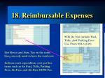 18 reimbursable expenses1