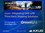 scm02 integrating dax with third party shipping solutions