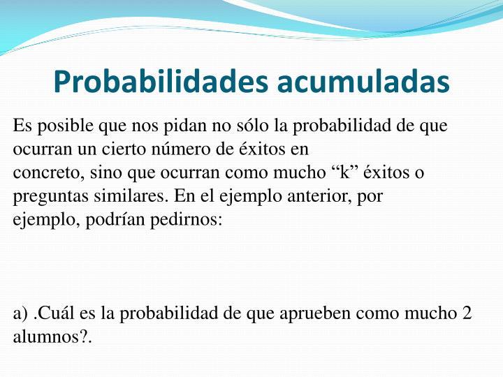 Probabilidades acumuladas