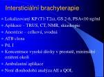 interstici ln brachyterapie