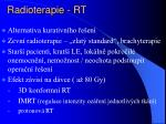 radioterapie rt