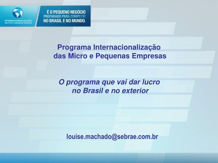 Programa Internacionalização