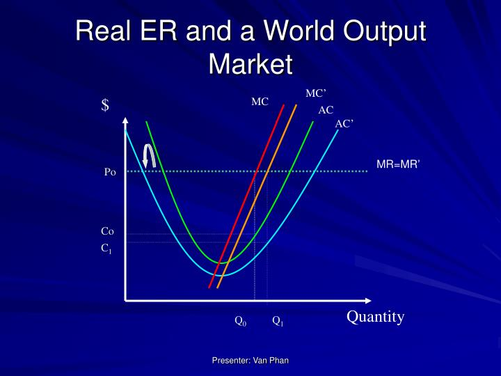 Real ER and a World Output Market