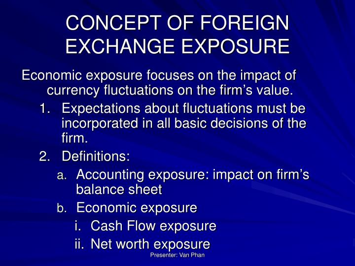 CONCEPT OF FOREIGN EXCHANGE EXPOSURE