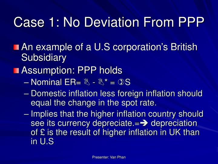 Case 1: No Deviation From PPP