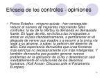 eficacia de los controles opiniones