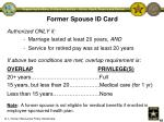 former spouse id card
