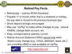 retired pay facts