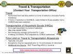 travel transportation contact your transportation office