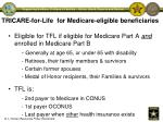 tricare for life for medicare eligible beneficiaries
