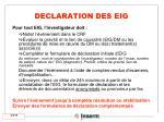declaration des eig