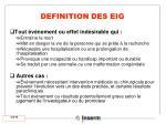 definition des eig