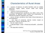 characteristics of rural areas