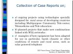collection of case reports on
