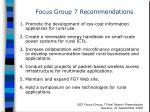 focus group 7 recommendations