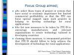 focus group aimed