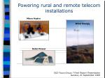 powering rural and remote telecom installations