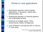 trends in rural applications