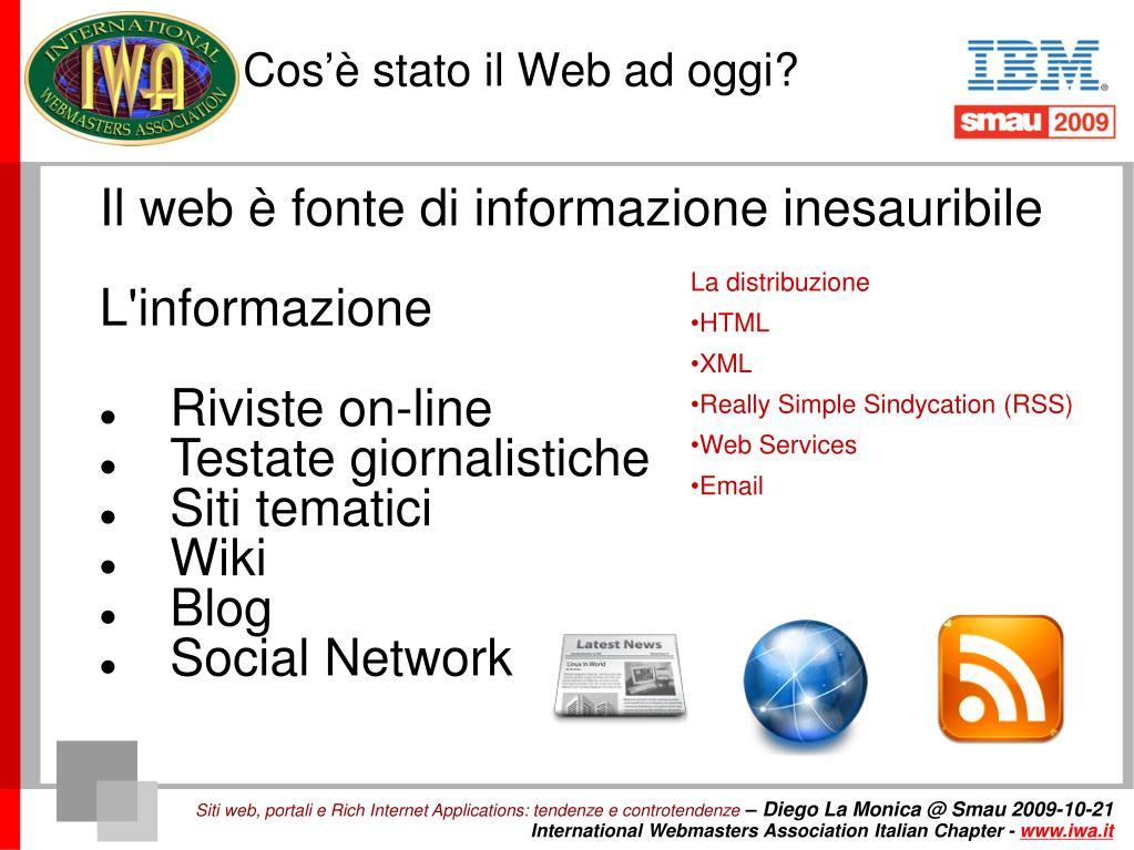 Cos'è stato il Web ad oggi?