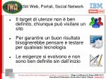 siti web portali social network