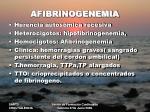 afibrinogenemia