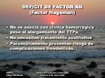 deficit de factor xii factor hageman