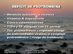 deficit de protrombina