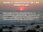 manejo anestesico de las hemofilias1