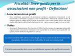 fiscalit linee guida per le associazioni non profit definizioni
