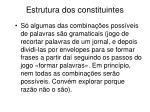 estrutura dos constituintes