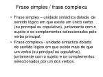 frase simples frase complexa