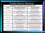 consider bloom s taxonomy1
