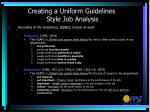 creating a uniform guidelines style job analysis2
