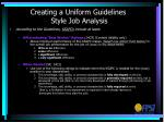 creating a uniform guidelines style job analysis3